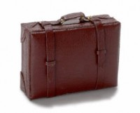 Dollhouse Brown Luggage - Product Image