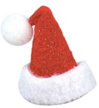 § Disc .60¢ Off - Dollhouse Tiny Santa Hat - Product Image