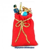 Dollhouse Filled Red Santa's Bag of Toys - Product Image