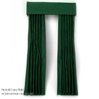 (§) Sale $5 Off - Dollhouse Dark Green Single Drape - Product Image