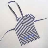 Sale $2 off - Dollhouse Striped Chef Apron Set - Product Image