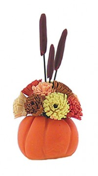 (*) Dollhouse Fall Centerpiece - Product Image