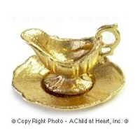 (*) Dollhouse Finished or Unfnished - 2 pc Gravy Boat - Product Image