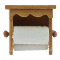 (*) Dollhouse Wooden Paper Towel Holder - Product Image