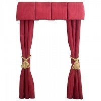 Dollhouse Double Drapes w/Box Pleat Cornice - Product Image