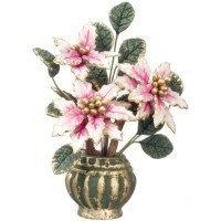 Dollhouse Poinsettia in Large Pot - Product Image