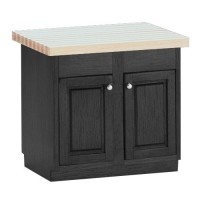 Painted Center Island with Butcher Block Top - Product Image
