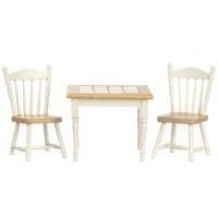 Dollhouse Oak/White Table Set - Product Image