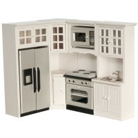 Kitchen Set White - Marble Counters - Product Image