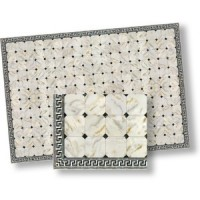 """(*) Dollhouse """"FAUX"""" Marble Floor w/ Border - Product Image"""