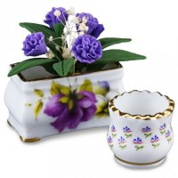 Flower Pot with Lilacs - Product Image