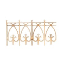 4 pc Laser Cut Dollhouse Fence - Product Image