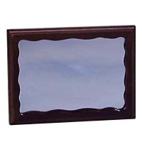 § Disc .60¢ Off - Walnut Wall Rectangular Mirror - Product Image