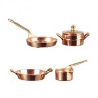 (§) Sale .60¢ Off - 3 pc Copper Pots Set - Product Image