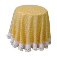 Dollhouse Patterned Skirted Table - Product Image