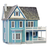 Finished Blue Victoria's Farmhouse - Product Image
