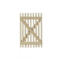 Dollhouse Picket Fence Gate - Product Image