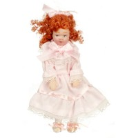 Porcelain Little Victorian Girl in Pink - Product Image