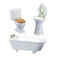 Dollhouse Art Deco White Bathroom - Product Image