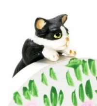 Dollhouse Miniature Climbing Cat - Product Image