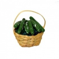 Dollhouse Zucchini in Basket - Product Image