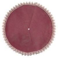 § Sale .60¢ Off - Dollhouse Rose Tree Skirt - Product Image