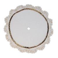 Dollhouse White Velvet Tree Skirt - Product Image