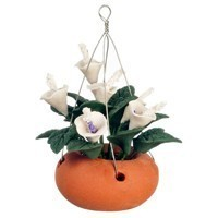 Dollhouse Hanging White & Lavender Lilies - Product Image