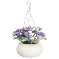 § Sale $1 Off - Dollhouse Hanging Purple & Pink Pansies - Product Image
