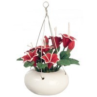 Dollhouse Hanging Red Day Lily - Product Image