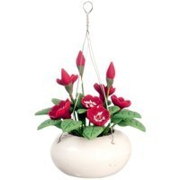 Dollhouse Hanging Red Flowers - Product Image