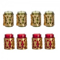 Green or Red Tumbler Set with Filagree - Product Image