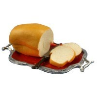 Dollhouse Loaf of Bread on Tray - Product Image