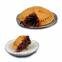 Sale $4 Off - Blueberry Pie with Slice - Product Image