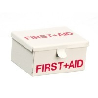§ Sale .50¢ Off - Dollhouse Metal First Aid Kit - Product Image