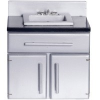 Modern Dollhouse Kitchen Sink - Product Image