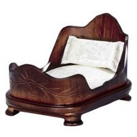 Dollhouse Double Walnut Sleigh Bed - Product Image