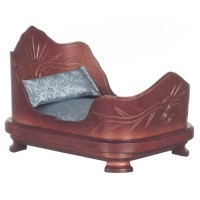 Dollhouse Double Mahogany Sleigh Bed - Product Image