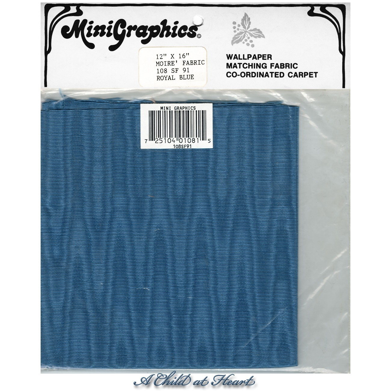 § Disc $4 Off - Moiré Fabric Royal Blue - Product Image