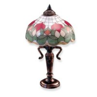 Dollhouse Rose Tiffany Table Lamp - Product Image