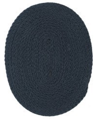 § Disc. $3 Off - Dollhouse Oval Braided Rug, Wedgwood - Product Image