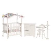 Dollhouse Canopy Nursery - White - Product Image
