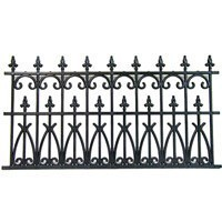 2 pc Victorian Wrought Iron Fence - Product Image