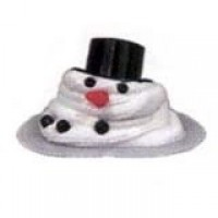 Dollhouse Miniature Melting Snowman - Product Image