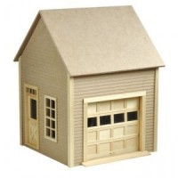 (*) Dollhouse Garage with Working Door - Product Image