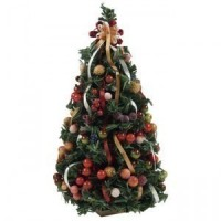 Closeout - Dollhouse Della Robbia Christmas Tree - Product Image