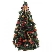 (*) Dollhouse Della Robbia Christmas Tree - Product Image