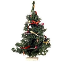 Decorated Dollhouse Christmas Tree - Product Image
