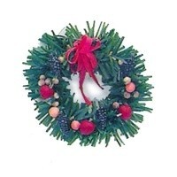 Dollhouse Christmas Della Robia Wreath - Product Image