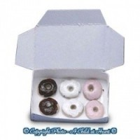 (*) Dollhouse Filled Bakery Box of Donuts - Product Image